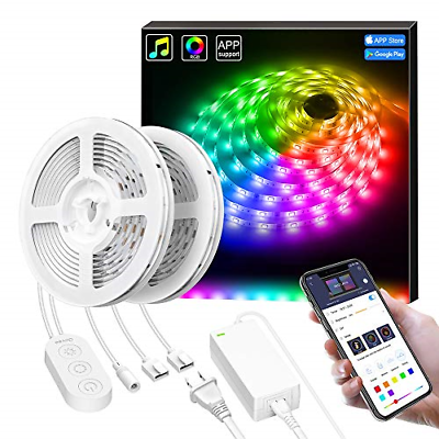 32.8Ft Smart LED Lights Strip RGBIC with Music Sync, Govee A