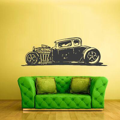 Wall Decal Vinyl Sticker Decal Hot Rod Auto Retro Muscle Car decor art Z2358