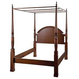 King Size Bombay 4 Poster Herring Bed Frame and Dresser