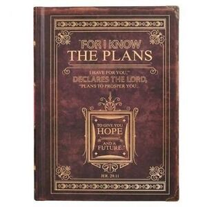 Journal Classic Brown I Know the Plans by Christian Art Gifts -Hcover