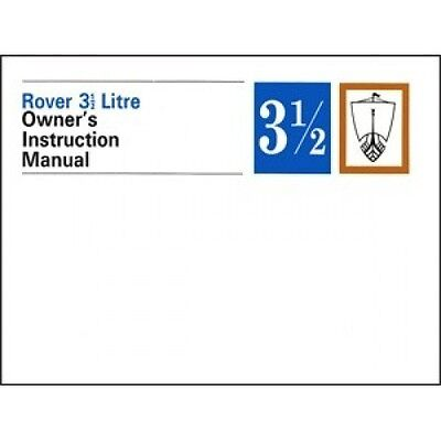 Rover 3.5 Litre Owners Instruction Manual (P5) book paper