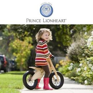NEW PRINCE LIONHEART BALANCE BIKE WOODEN BICYCLE KID'S AGES 2-5 BOY'S GIRL'S BIKES 109841041