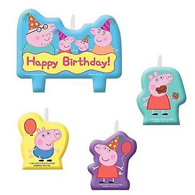 Peppa Pig Birthday Party Favors Supplies Candle Set Cake Top Decoration (4pc) - Peppa Pig Birthday Supplies