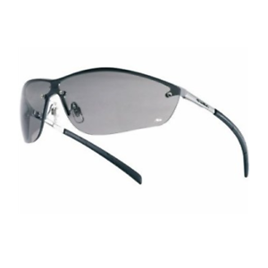 5e1bace23b9 Bolle Safety Glasses Silium Eyewear With Silver Metal Frame and Smoke Lens  40074