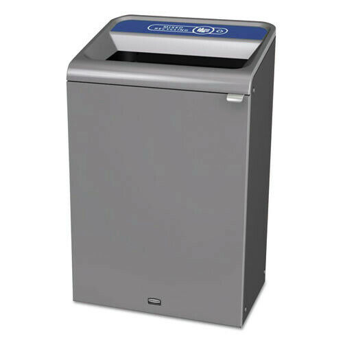 Rubbermaid Commercial 1961629 Configure 33 gal. Waste Receptacle Gray New