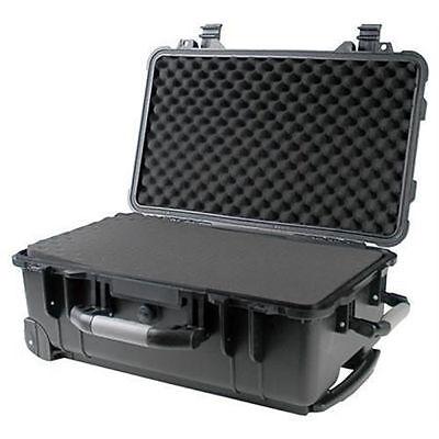 """22"""" Weatherproof Marine Rolling Case Drone Camera Gun W/ Pelican 1510 Pluck Foam"""