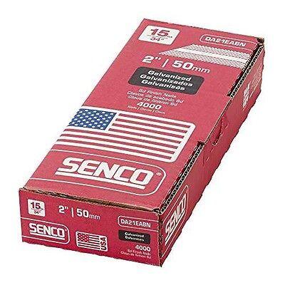 Senco Da21eabn Nail 15 Gauge By 2-inch Length Electro Galvanized Brad Nail 400