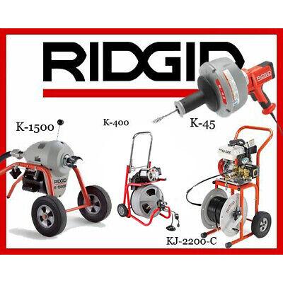 Ridgid K-1500 23707 K-400 T2 52363 K-45-1 36013 Kj-2200-c Jetter 63882