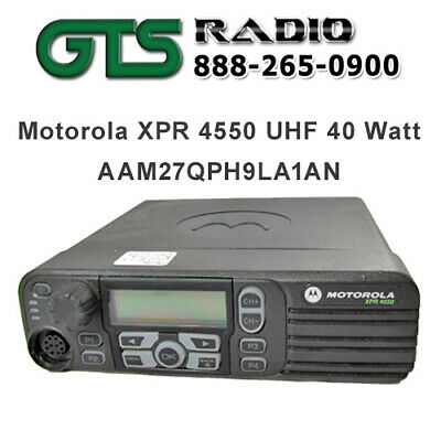 Refurbished Motorola Uhf Xpr4550 40w Two Way Radio Mobile Trunking Option Board