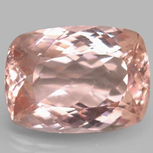 23.64Ct. Ravishing Rare! Natural Pinkish Orange Morganite Cushion Unheated CERT!