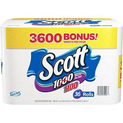 Scott Bath Tissue, 36 Bonus Pack 1,100 Sheets per Roll
