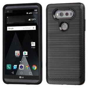 LG V20 Tough Sturdy Rugged Heavy Duty Dual Layer Armour TPU Silicone Rubber Hybrid Protector Case