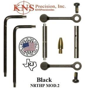 KNS Pins Anti-Walk Pins Non-Rotating NRTHP Mod 2  Black  Side Plates .154 Pin