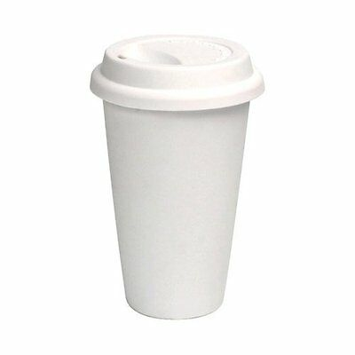 16 Oz White Disposable Paper Coffee Cup With Cappuccino Lid 100-piece Pack