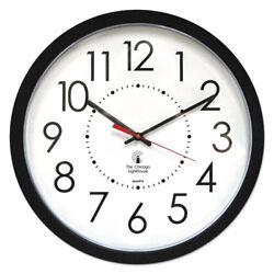Electric Contemporary Clock, 14-1/2, Black