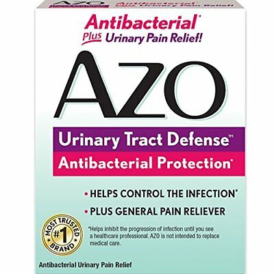 AZO Urinary Tract Defense, Antibacterial Protection, Pain Relief, 24 Tablets