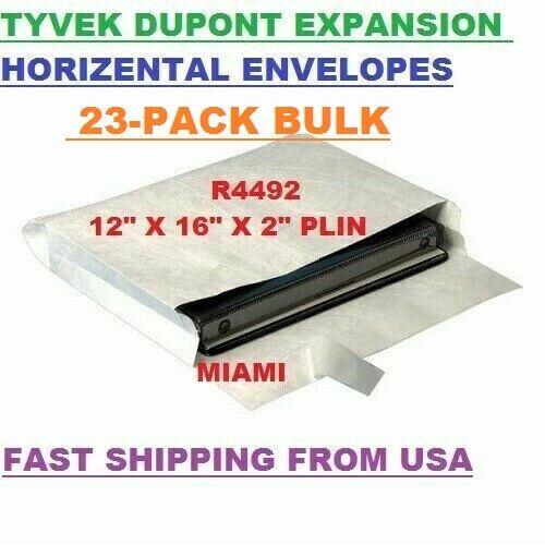 "23-PACK  TYVEK DUPONT EXPANSION ENVELOPES 12""X 16"" X 2"" FAST SHIPPING USA R4492"