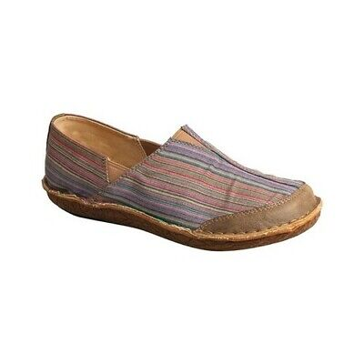 Twisted X Women's   WLW0002 Leather Wrap Slip On Multi Canvas/Bomber Canvas Size