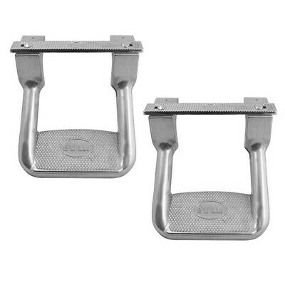 "2x For Ford F150 F250 F350 Truck Pickup Aluminum Non Slip 10"" Hoop Side Step Bar"