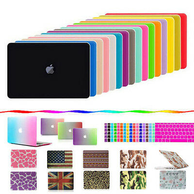 """Hard Rubberized Macbook Case for Air Pro Retina 11"""" 12"""" 13"""" 15"""" + Keyboard Cover"""