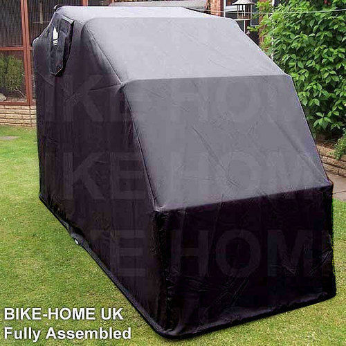Hard Covered Bike Shelters : Motorbike bike cover shed moped storage garage motorcycle