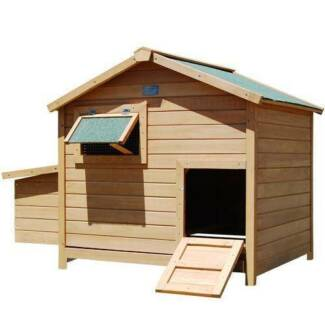 Deluxe Wooden Chicken Coop Hen House Rabbit Hutch Pet Guinea Pi