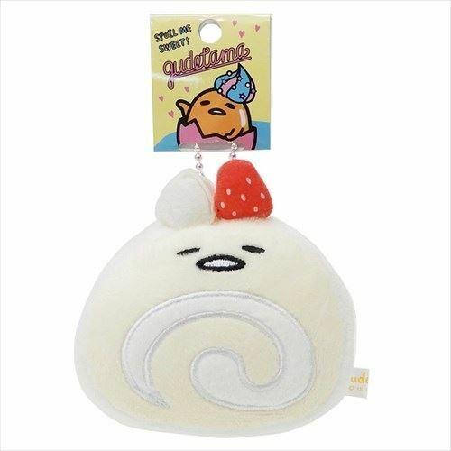 Gudetama Plush Keychain: Roll Cake Sanrio Japan
