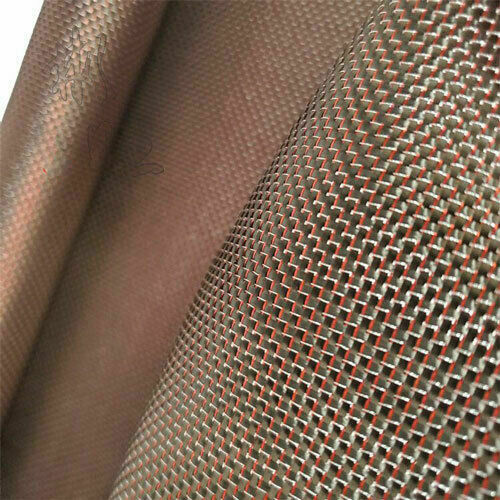 Metallic Carbon fiber & Red&Silver reflection mixed fabric Carbon cloth 50*100cm