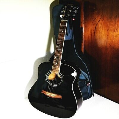 Ibanez Black Glossy Acoustic  6 String Guitar(NICE)