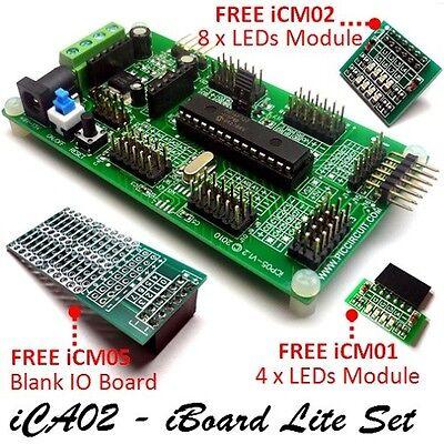 Ica02 - Iboard Lite Setmicrochip 28pin Pic16f722 Plug Play Development Board