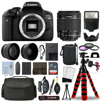 Canon Rebel T6i DSLR Camera with 18-55mm STM+ 16GB 3 Lens Ul