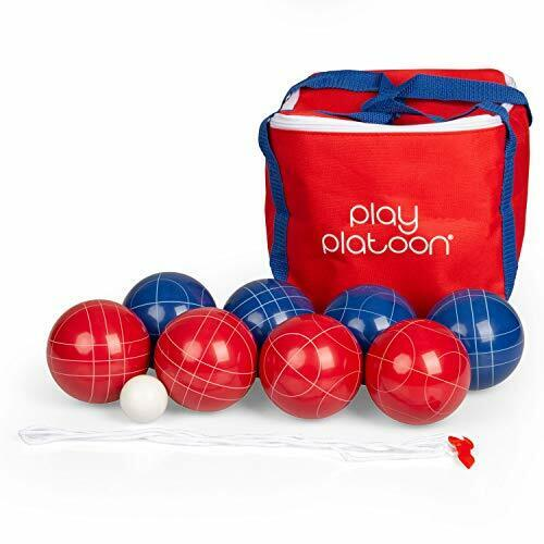 Play Platoon Bocce Ball Set - Red and Blue 2 to 8 Person Bocce Yard Game