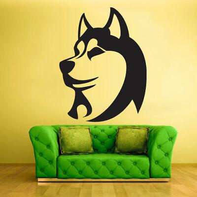 Wall Vinyl Sticker Bedroom Design Dog Huskies Animal (Z445)