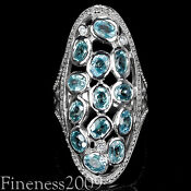 Natural Blue Zircon Jewelry