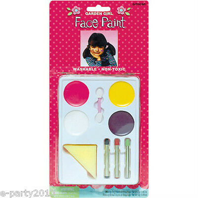 GARDEN GIRL WASHABLE FACE PAINTING MAKEUP SET ~ Birthday Party Supplies - Halloween Face Painting Supplies