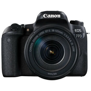 Canon EOS 77D DSLR Camera with 18-135mm f/3.5-5.6 IS USM Lens Ki