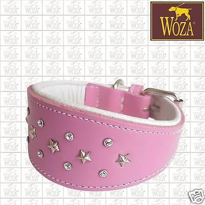 2012 Halsbänder (Premium Windhund Halsband Vollleder WOZA Swarovski Handnaht Softrindnappa GP2012)