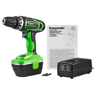 Kawasaki drill with battery and charger