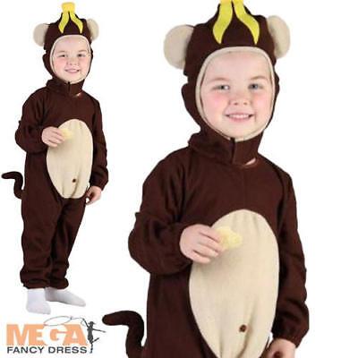 Monkey Toddler 2-3 Fancy Dress Kids Animal Boys Girls Child Dress Up Costume New (Monkey Costumes For Girls)