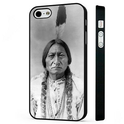 Sitting Bull Native American Sioux Indian BLACK PHONE CASE COVER fits iPHONE Native American Indian Cover