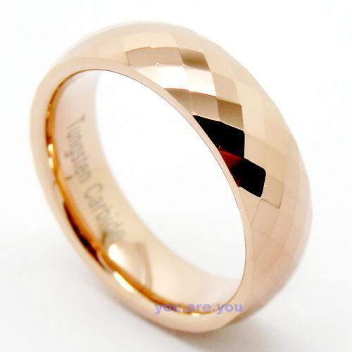 Pink And Black Tungsten Ring: Pink Tungsten Ring