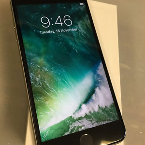 *!!* iPhone **6s +PLUS--64GB *UNLOCKED *MINT *BLK / GRAY *WRNTY!