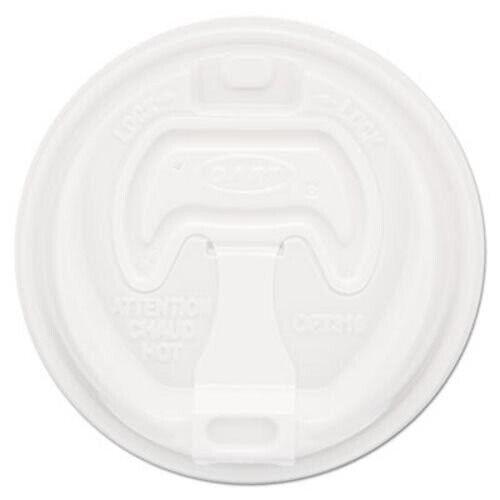 Dart Optima Reclosable Lid, 12-24oz Foam Cups, White, 100/Bag (DCC16RCLPK)