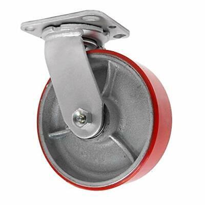 6 Inch Swivel Caster - 6 X 2 Polyurethane On Iron Wheel - 1200 Lb Weight Capacit