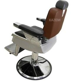 Heavy Use Boxed Hydraulic Brown Nelson Barber Chairs