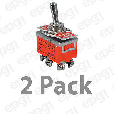 2 Pack - Dpdt Onon Medium Duty Toggle Switch 10amp-125v St93-2pk