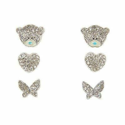 Me to You Set of 3 Earrings with Crystal Stones Jewellery - Unboxed