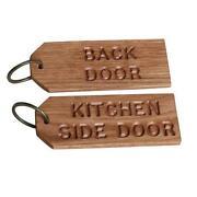 Personalised Wooden Keyrings