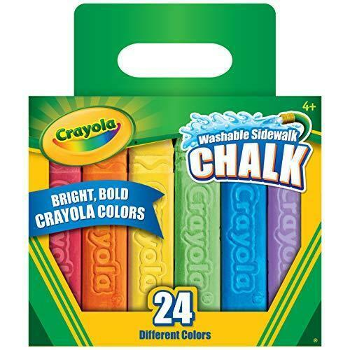 Crayola Sidewalk Chalk, Assorted Colors, 24 Count, Multicolored