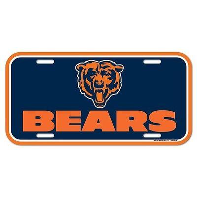 CHICAGO BEARS TEAM LOGO CAR AUTO LICENSE PLATE TAG NFL FOOTBALL
